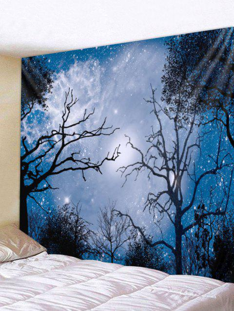 Starry Night Forest Print Tapestry Wall Art - multicolor W79 INCH * L59 INCH