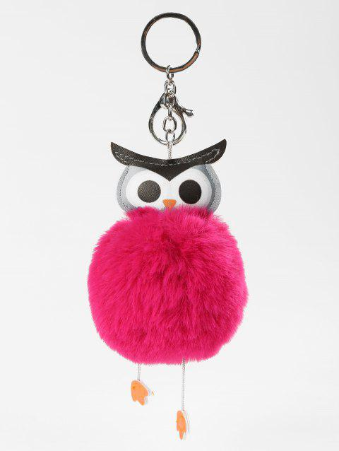Plush Toy Owl Key Chain - ROSE RED