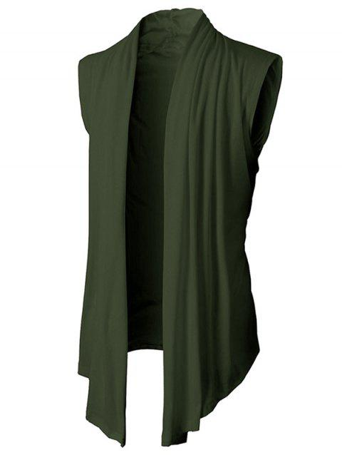 Simple Leisure Style Slim Fit Cardigan - ARMY GREEN 2XL