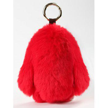Plush Toy Cartoon Bunny Key Ring - FIRE ENGINE RED