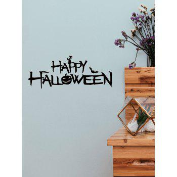 Halloween Pumpkin Printed Removable Wall Stickers - BLACK