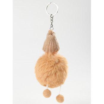 Plush Toy Sleeping Baby Key Ring - BEE YELLOW