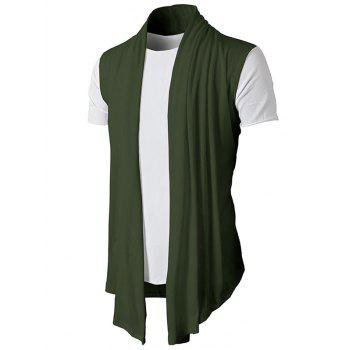 Simple Leisure Style Slim Fit Cardigan - ARMY GREEN M