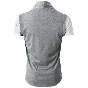Simple Leisure Style Slim Fit Cardigan - LIGHT GRAY XL