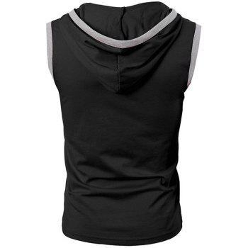 Bordure Kangaroo Pocket Slim Fit Tank Top - BLACK 2XL