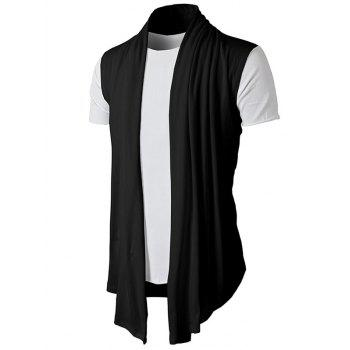 Simple Leisure Style Slim Fit Cardigan - BLACK M