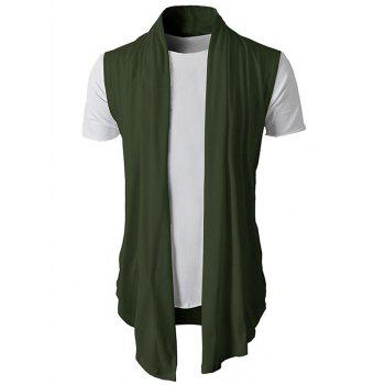 Simple Leisure Style Slim Fit Cardigan - ARMY GREEN L