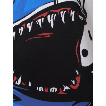 Casual Cartoon Shark Print T-shirt - WHITE XL