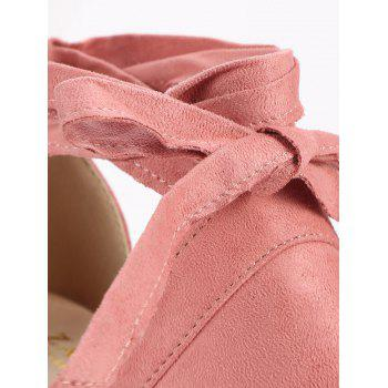 Peep Toe Lace Up Chic High Heel Sandals - LIGHT PINK 36