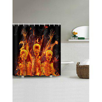 Cool Skull Print Bath Shower Curtain - multicolor W59 INCH * L71 INCH