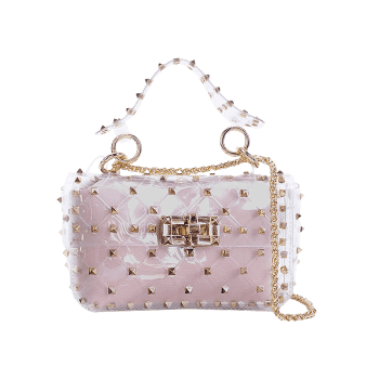 Ensemble de 2 sacs Rivet Lucid Jelly Crossbody Bag - Rose Léger HORIZONTAL
