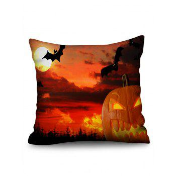 Halloween Sunset Print Sofa Pillowcase - DARK ORANGE W18 INCH * L18 INCH