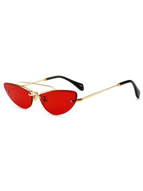 Anti Fatigue Crossbar Rimless Catty Lunettes de soleil - Rouge