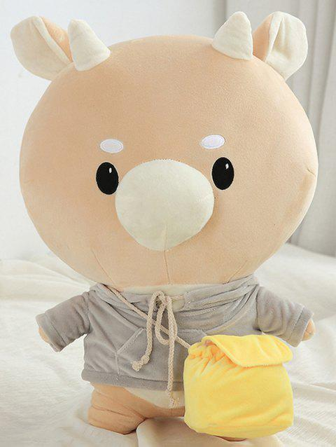 Cattle Doll Animal Plush Toy - BROWN SUGAR 25CM