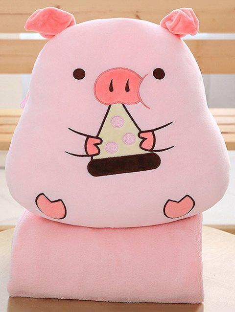 Pig Shape Plush Toy with Blanket - PINK