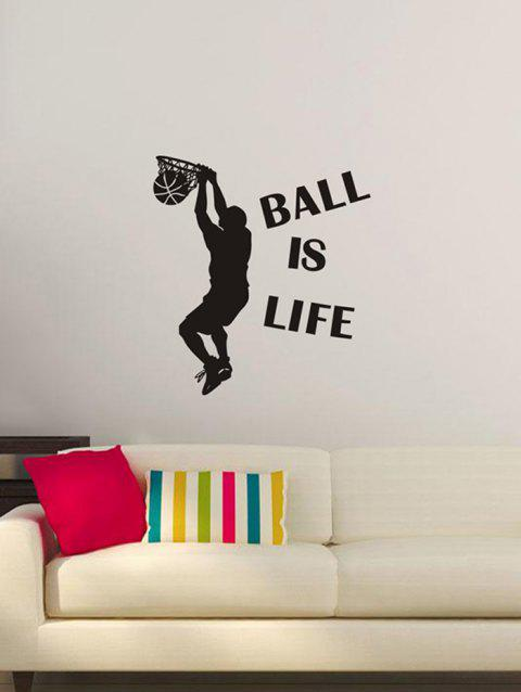 BALL IS LIFE Imprimer Stickers muraux - Noir