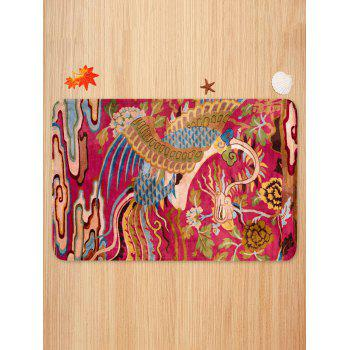 Phoenix Pattern 3 Pcs Bath Mat Toilet Mat - VALENTINE RED