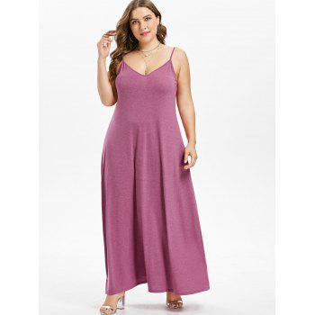 Plus Size Maxi A Line Dress - PALE VIOLET RED 4X