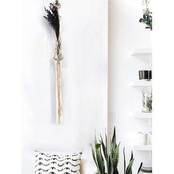 Rope Braided Craft Macrame Plant Hanger - WARM WHITE 104*8CM