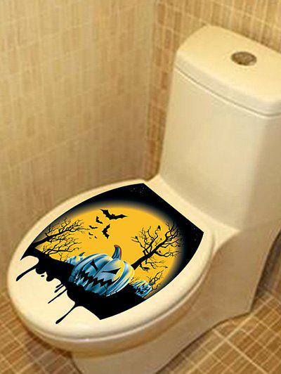 2018 Halloween Night Pattern Toilet Sticker multicolor In Toilet ...