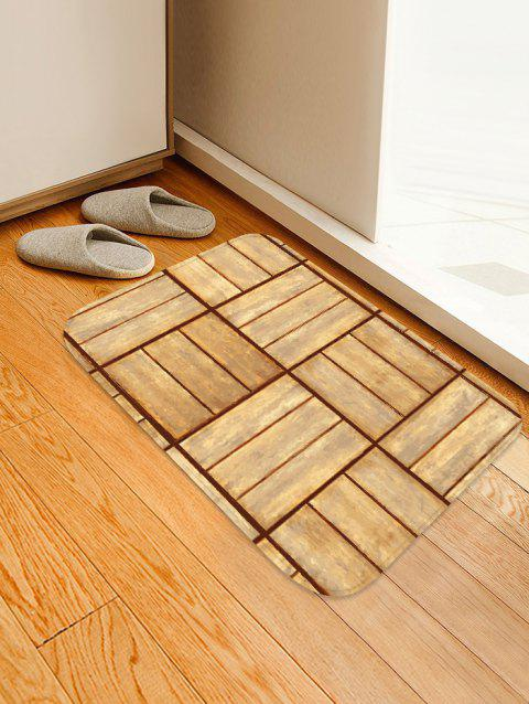 Wooden Floor Pattern Soft Anti-skid Area Rug - BURLYWOOD W16 INCH * L24 INCH