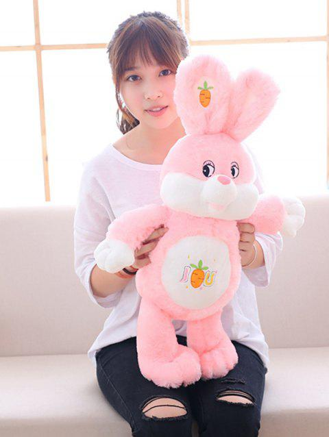 Carrot Rabbit Plush Toy - PINK