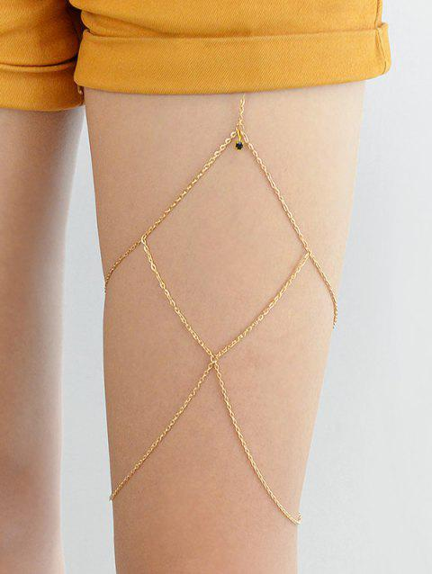 Body Jewelry Multi-layer Leg Chain - GOLD