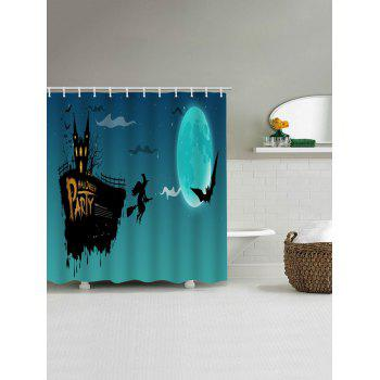 Halloween Night Party Print Waterproof Shower Curtain - multicolor W71 INCH * L71 INCH