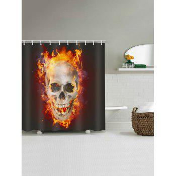 Skull Flame Print Waterproof Shower Curtain - multicolor W59 INCH * L71 INCH