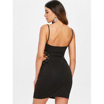 Side Cut Out Mini Dress - BLACK M