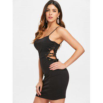 Side Cut Out Mini Dress - BLACK XL
