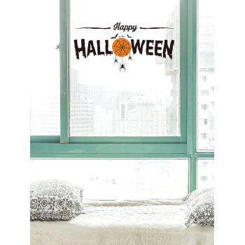 Halloween Theme Print Wall Art Sticker - BLACK/ORANGE