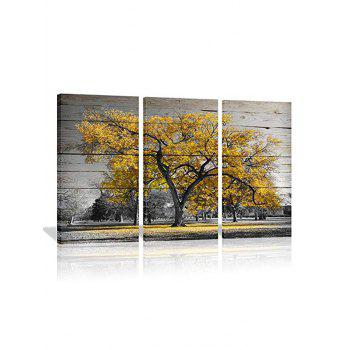 Trees Print Unframed Canvas Paintings - multicolor 3PC:12*18 INCH( NO FRAME )