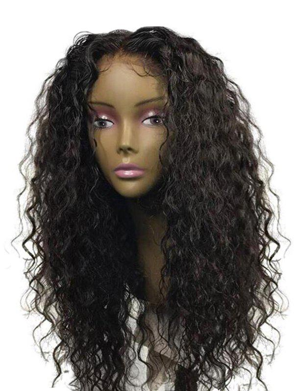 Middle Part Long Water Wave Synthetic Wig - NATURAL BLACK