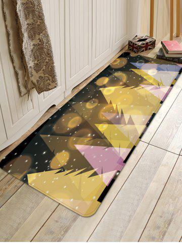 Starry Christmas Tree Print Anti-skid Area Rug
