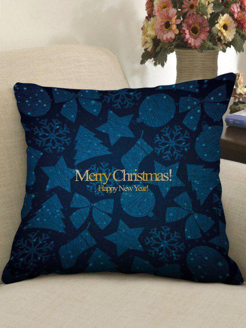 Christmas Theme Print Linen Sofa Pillowcase - multicolor W18 INCH * L18 INCH