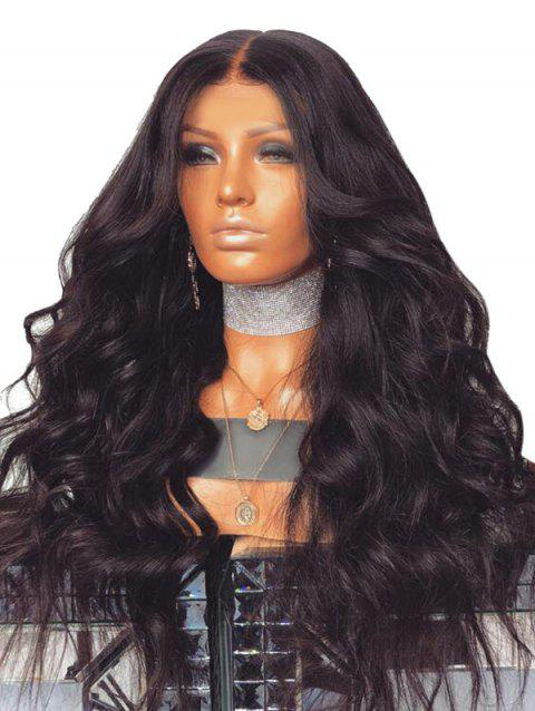Middle Part Long Body Wave Party Heat Resistant Synthetic Wig - NATURAL BLACK