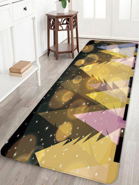 Starry Christmas Tree Print Anti-skid Area Rug - multicolor W16 INCH * L47 INCH