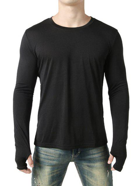 T-Shirt Gant Design Court en Avant et Long au Dos - Noir XL