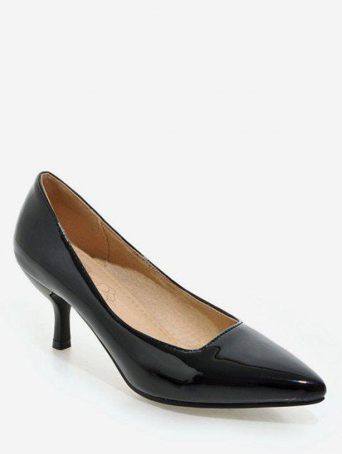Plus Size Pointed Toe Stiletto Heel Party Pumps - BLACK 38
