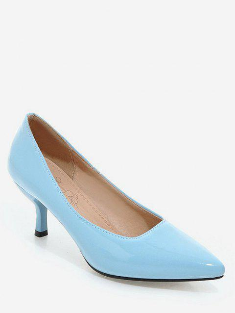 Plus Size Pointed Toe Stiletto Heel Party Pumps - DAY SKY BLUE 41