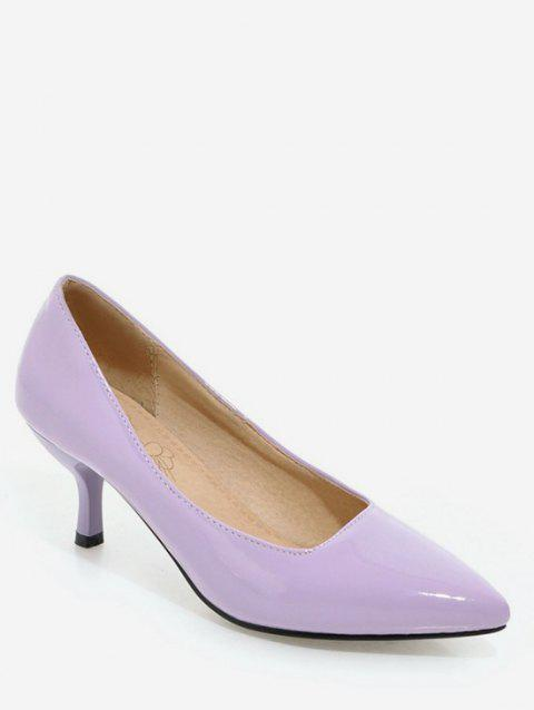 Plus Size Pointed Toe Stiletto Heel Party Pumps - LILAC 39