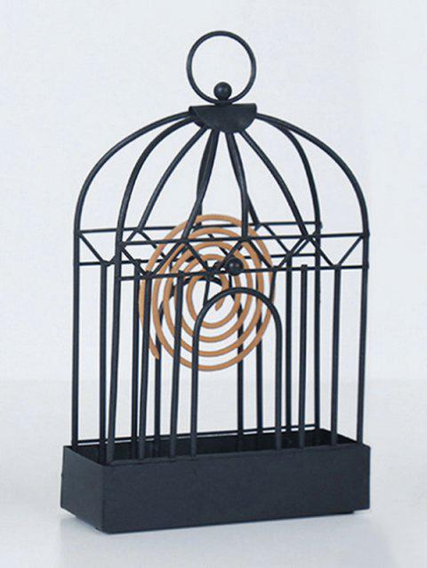 Home Decoration Iron Mosquito Coil Holder - BLACK 12.5*20CM