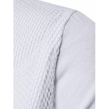 Voile Decorated Layered Tee Shirt - WHITE L