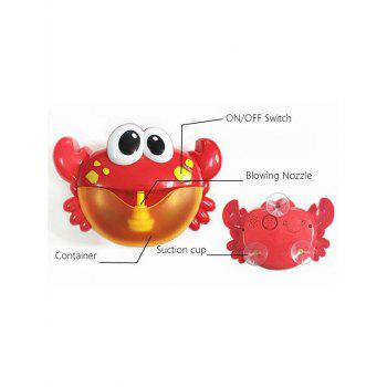 Bubble Maker Crab Baby Shower Toy - FIRE ENGINE RED