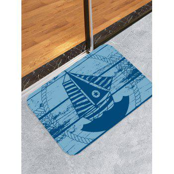 Star Sailboat Print Water Absorption Floor Mat - multicolor W16 INCH * L24 INCH