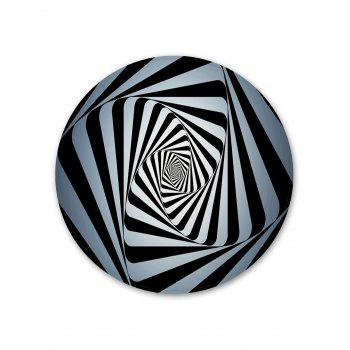 Abstract Spiral Print Absorption Round Floor Mat - multicolor 120 CM (ROUND)