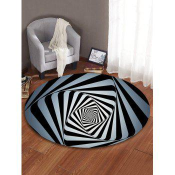 Abstract Spiral Print Absorption Round Floor Mat - multicolor 80 CM (ROUND)