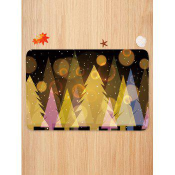 Starry Christmas Tree Print Anti-skid Area Rug - multicolor W16 INCH * L24 INCH