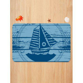 Star Sailboat Print Water Absorption Floor Mat - multicolor W20 INCH * L31.5 INCH